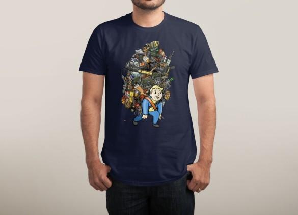 VETERAN WASTELAND HOARDER T-shirt Design by Rich Allen