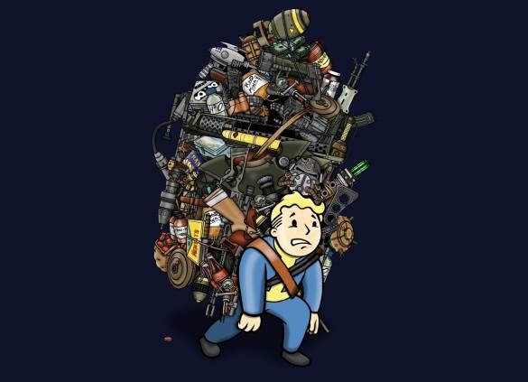 VETERAN WASTELAND HOARDER T-shirt Design by Rich Allen design