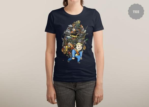 VETERAN WASTELAND HOARDER T-shirt Design by Rich Allen woman