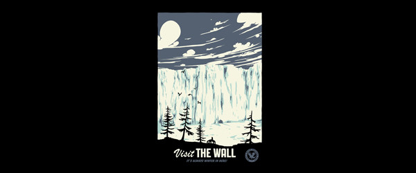 VISIT THE WALL T-shirt Design by Mathiole design main image