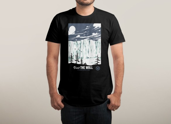 VISIT THE WALL T-shirt  Design by Mathiole man tee