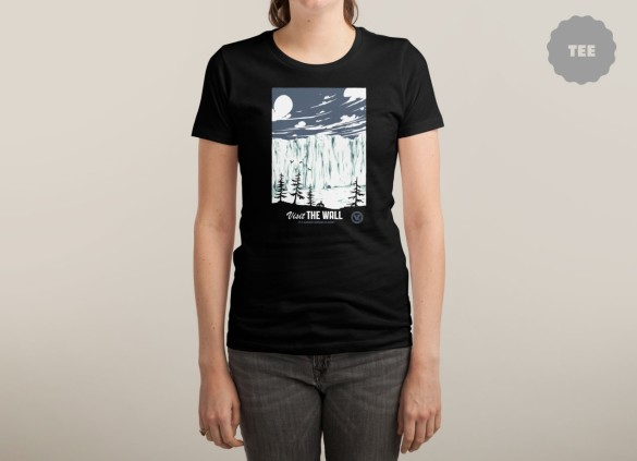 VISIT THE WALL T-shirt  Design by Mathiole woman