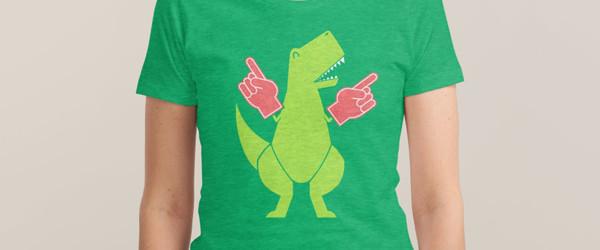 YAY! BIG HANDS! T-shirt Design by Teo Zirinis woman main image