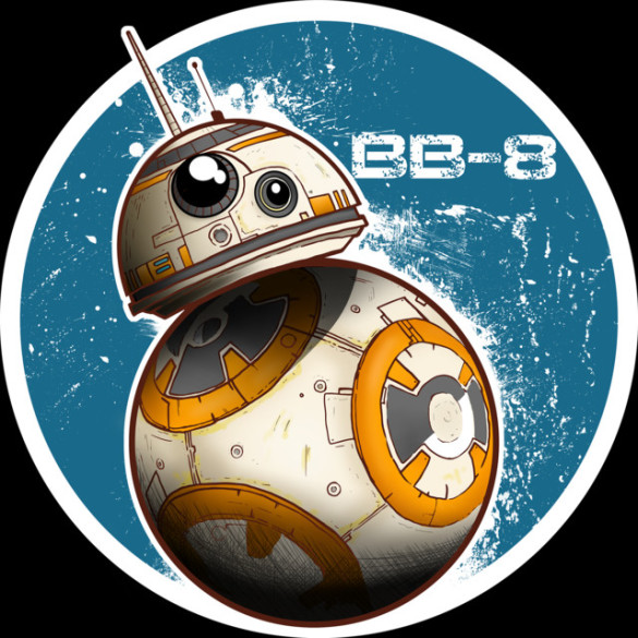 Bb 8 on the move t shirt design by starwars fancy t shirts for Bb design