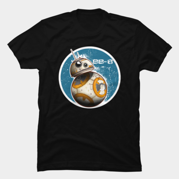 BB-8 On The Move T-shirt Design from StarWars t-shirt