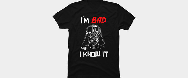 Bad Darth Vader T-shirt Design by StarWars t-shirt main image