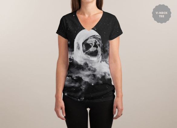 CATSTRONAUT T-shirt Design by Jorge Lopez Ramirez  woman t-shirt