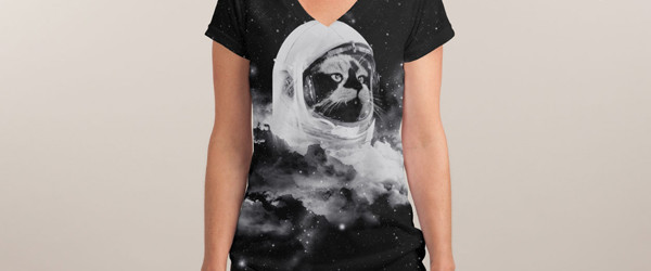 CATSTRONAUT T-shirt Design by Jorge Lopez Ramirez  woman t-shirt main image
