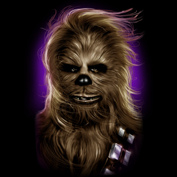 Chewbacca's Glamor Shot T-shirt Design by StarWars design