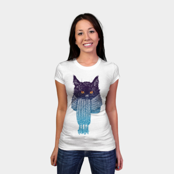 It's cold outside T-shirt Design by Helgram woman t-shirt