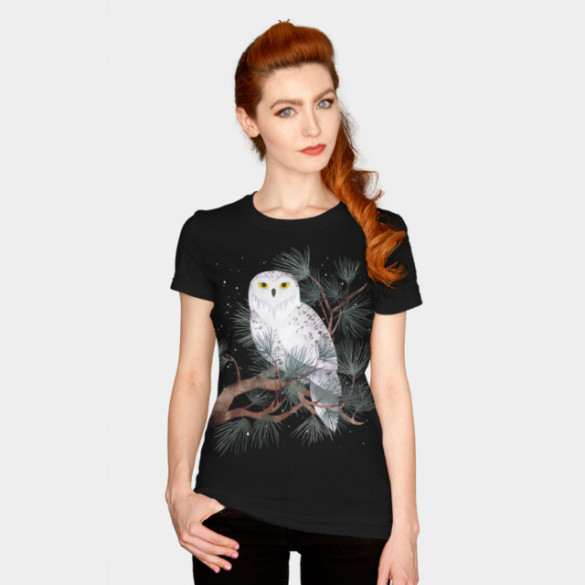 Snowy T-shirt Design by littleclyde woman t-shirt