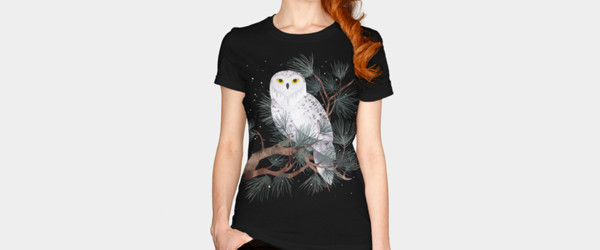 Snowy T-shirt Design by littleclyde woman t-shirt main image