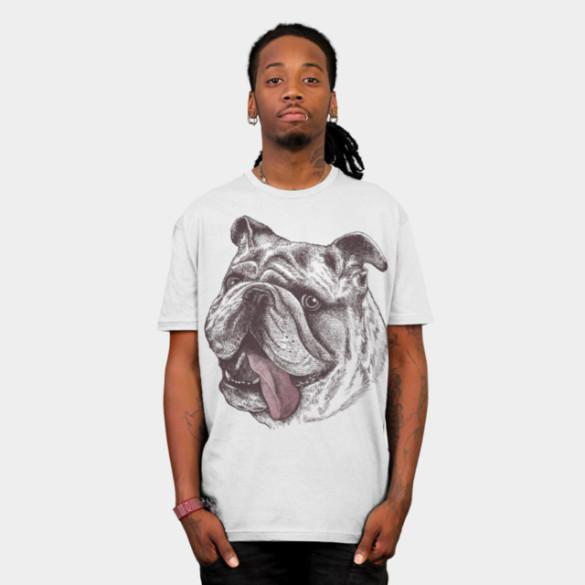 Bulldog King T-shirt Design by rcaldwell man t-shirt