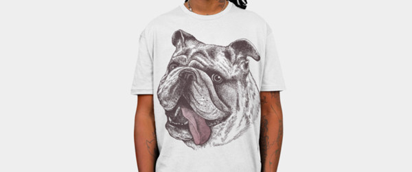 Bulldog King T-shirt Design by rcaldwell man t-shirt main image