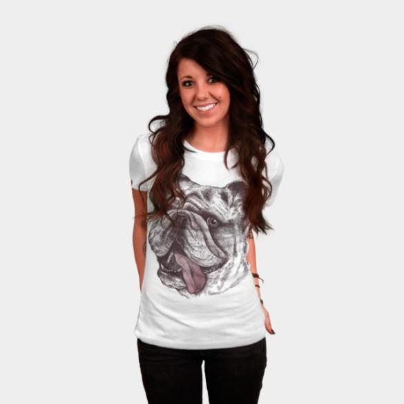 Bulldog King T-shirt Design by rcaldwell woman tee