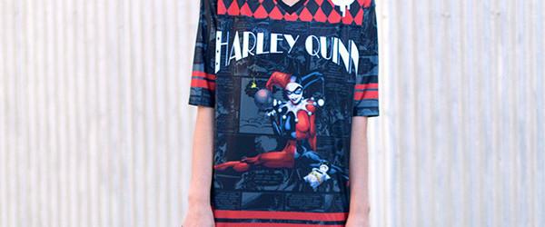HARLEY QUINN TOUCHDOWN T-shirt Design  front main image