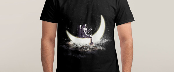 MOON SAILING T-shirt Design by dandingeroz man tee main image