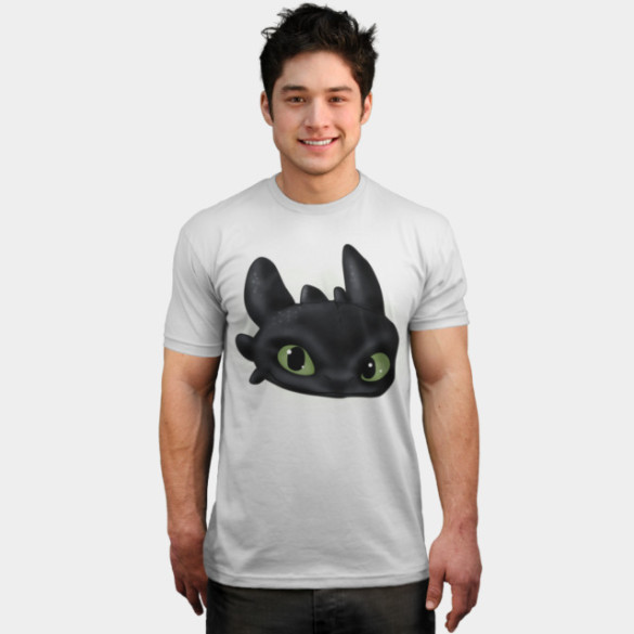 Toothless T-shirt Design by  joysapphire man tee