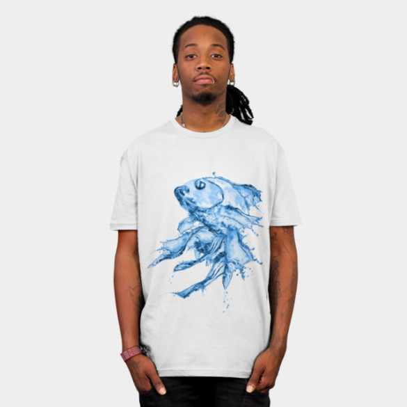 Water Fish T-shirt Design by Medapaw man tee