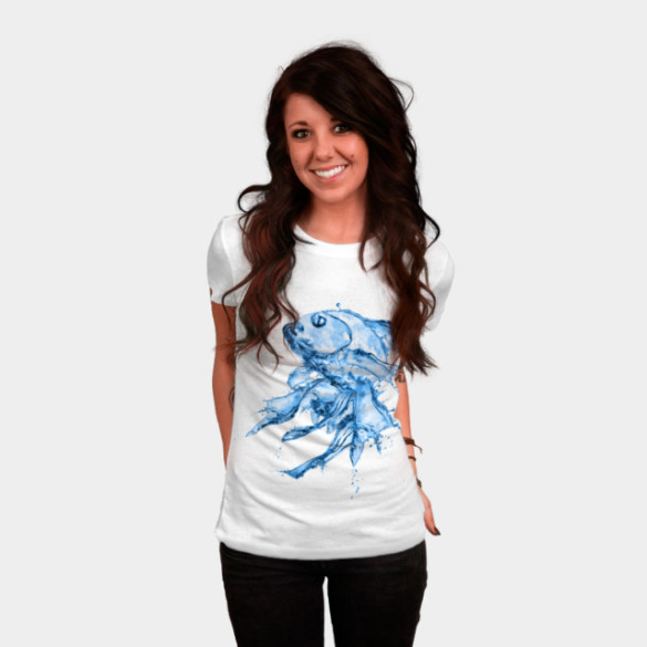 Water Fish T-shirt Design by Medapaw woman