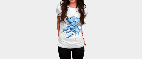 Water Fish T-shirt Design by Medapaw woman main image