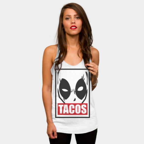 Deadpool Tacos T-shirt Design by Marvel woman