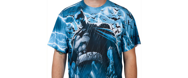 Lightning Batman T-shirt Design  front main image