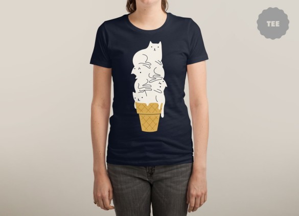 MEOWLTING T-shirt Design by ilovedoodle woman