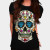 Mexican Skull T-shirt design by lunatics02 woman main image