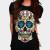 Mexican Skull T-shirt design by lunatics02 woman main image