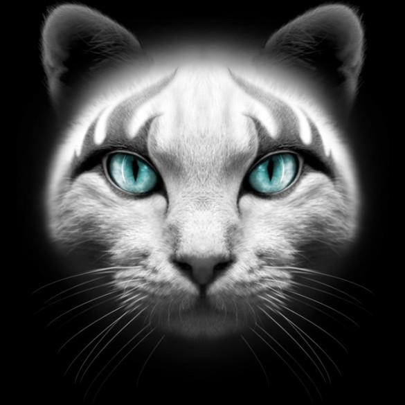 ROCKER CAT T-shirt Design by ADAMLAWLESS
