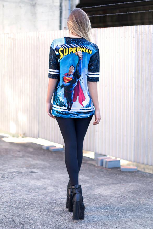 SUPERMAN TOUCHDOWN - LIMITED T-shirt Design back