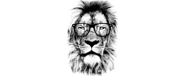 The king lion of the library T-shirt Design by Mitxeldotcom design main image
