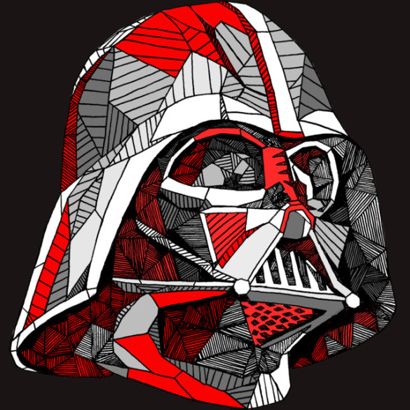 Abstract Vader T-shirt Design by StarWars