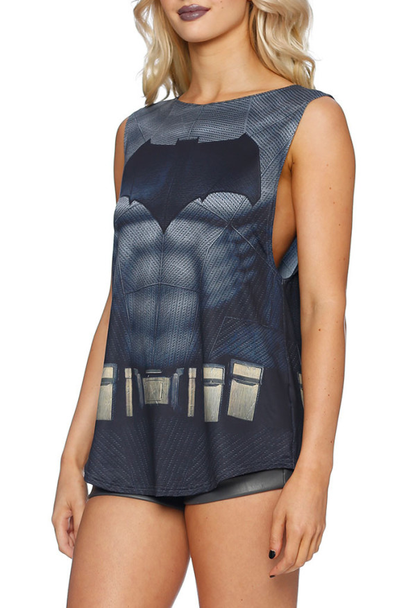 BATMAN SUIT MUSCLE TOP  close
