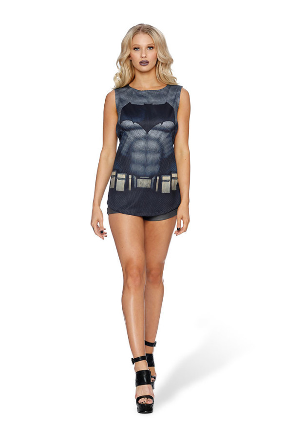 BATMAN SUIT MUSCLE TOP  front