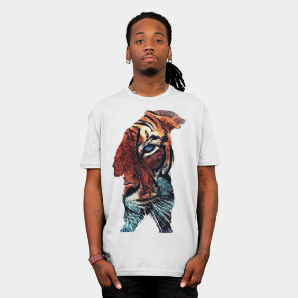 Bear and Tiger T-shirt Design by jbjart man