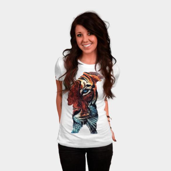 Bear and Tiger T-shirt Design by jbjart woman