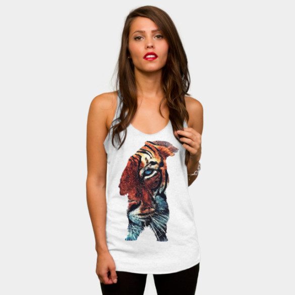 Bear and Tiger T-shirt Design by jbjart woman tee