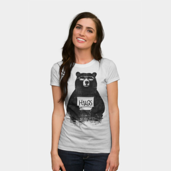 HUGS T-shirt Design by gloopz woman