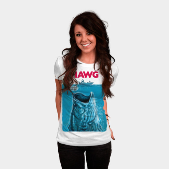 Hawg Fishing For Epic Largemouth Bass T-shirt Design by MudgeStudios woman