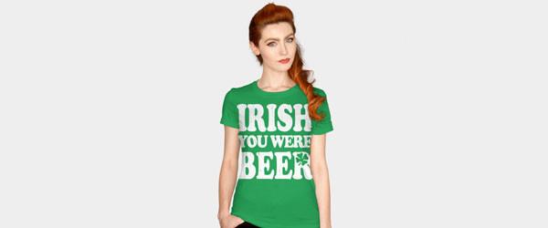 Irish You Were Beer woman main image