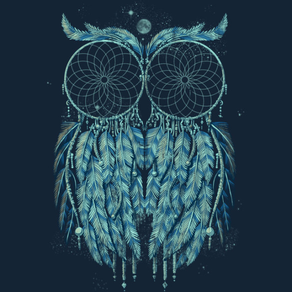 Owl Dream T-shirt Design by qetza design