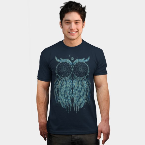 Owl Dream T-shirt Design by qetza man