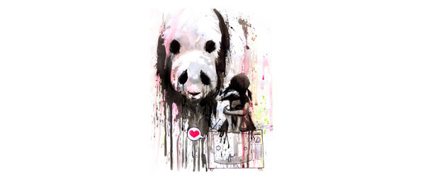 PANDA T-shirt Design by Lora Zombie design main image