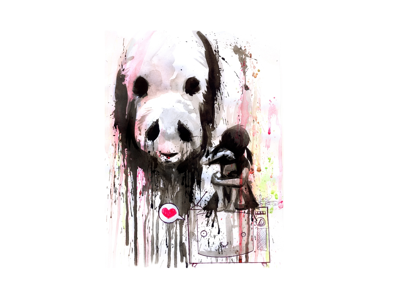 PANDA T-shirt Design by Lora Zombie design