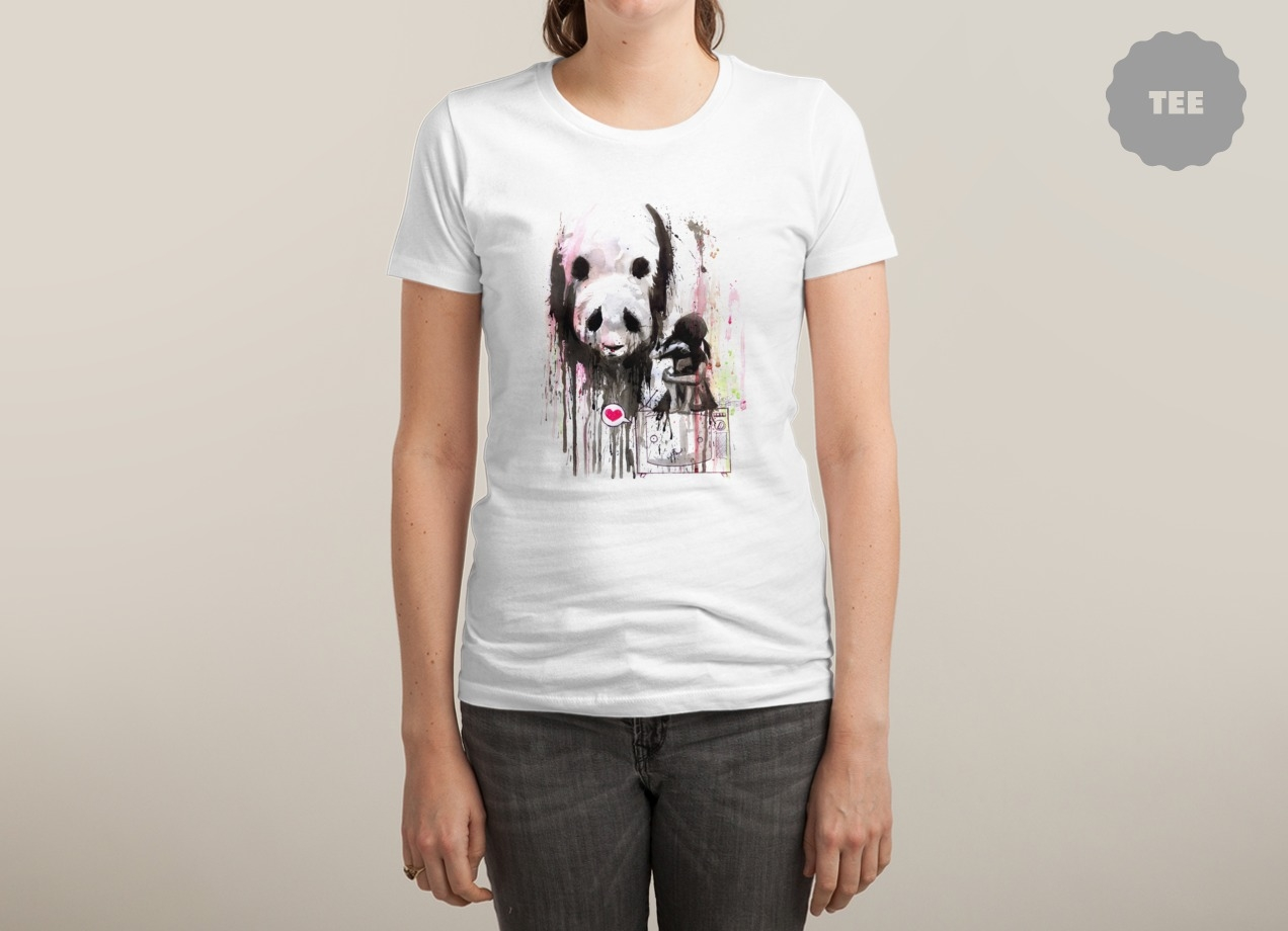 PANDA T-shirt Design by Lora Zombie woman tee