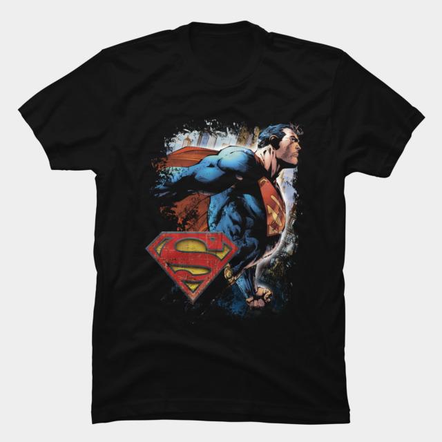 Superman t shirt design the image kid for Dc t shirt design