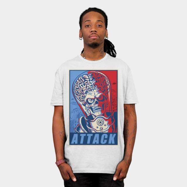 Attack! T-shirt Design by ArtofCorey man