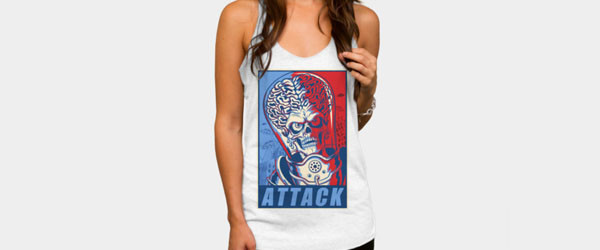 Attack! T-shirt Design by ArtofCorey woman t-shirt main image